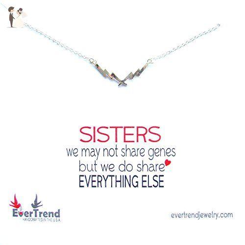 Unbiological Sisters Silver Double Lightning Bolt Necklace Best