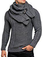 d2aecb5a281e2b Pullover Herren Strickpullover Winter Strick Strickjacke Tazzio Longsleeve  Clubwear Langarm Shirt Sweatshirt Hemd Pulli Kosmo Japan Style Fit Look