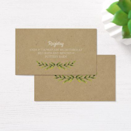 Country Leaves Wedding Registry Card | Zazzle.com ...
