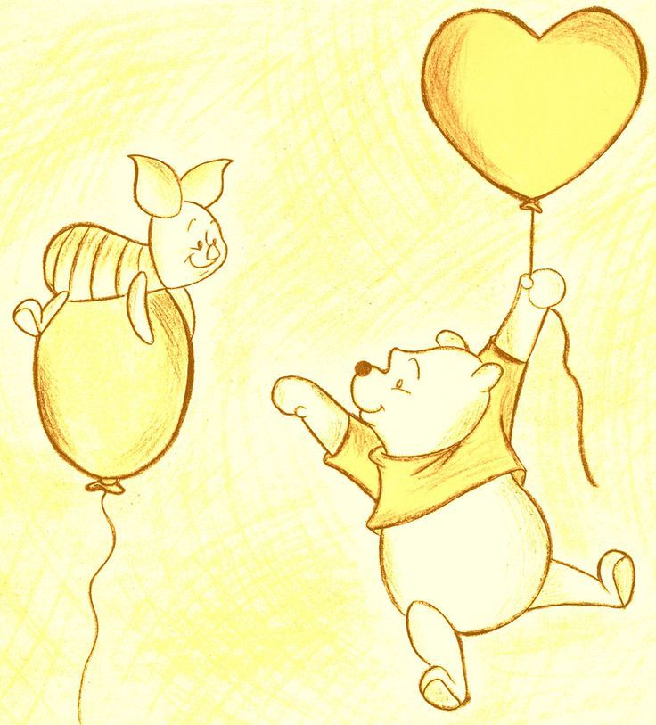 Image result for classic piglet holding a balloon outline | Pooh ...