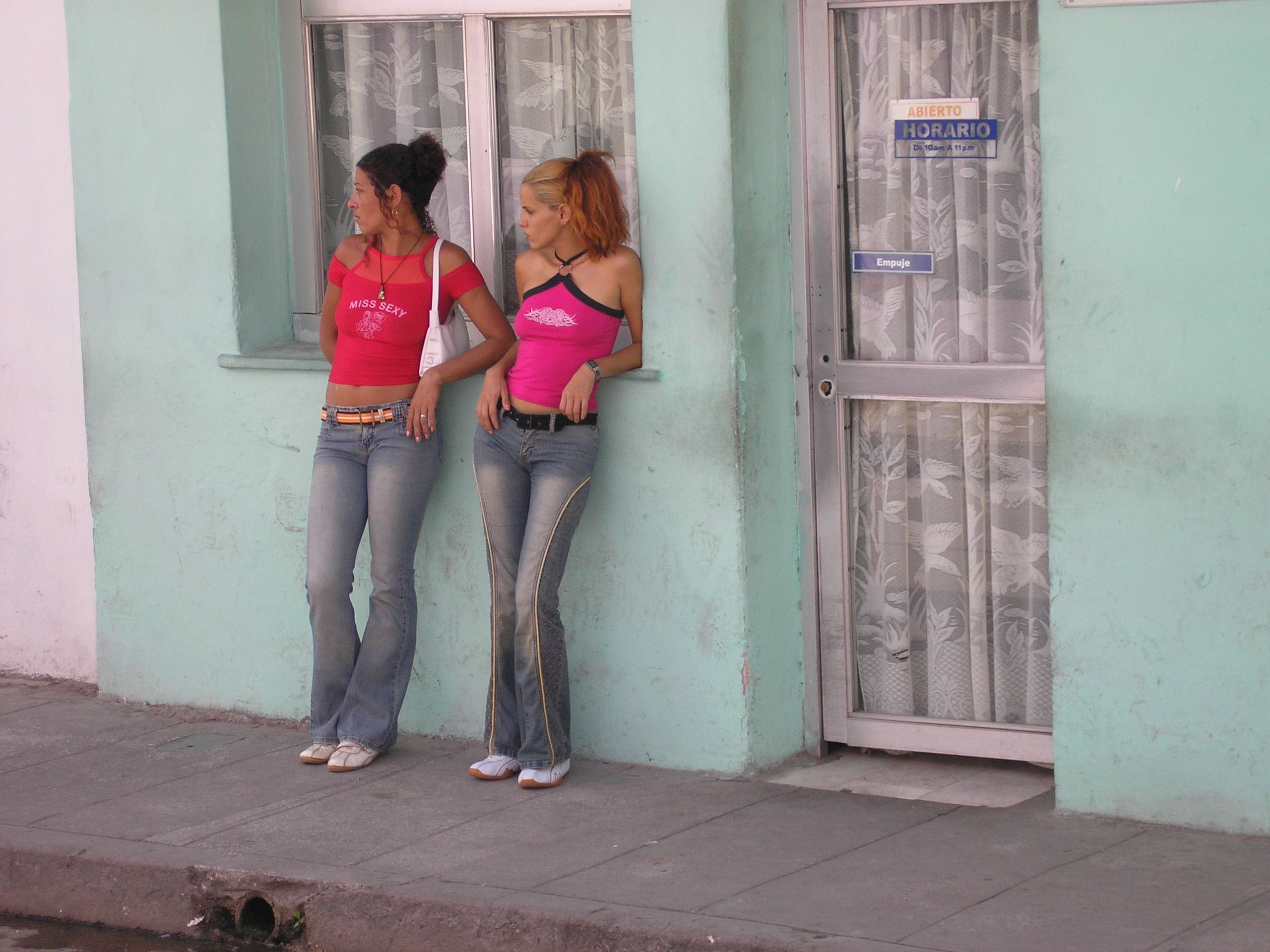 Ladies Of The Night Operating In Daytime Carmaguey Cuba My