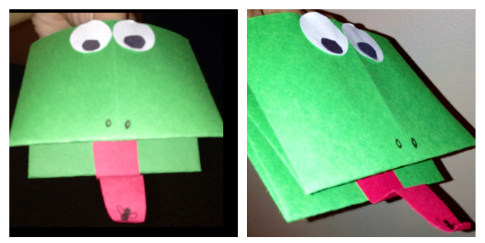 We Made Frog Puppets Afterwards We Sat Down With Our