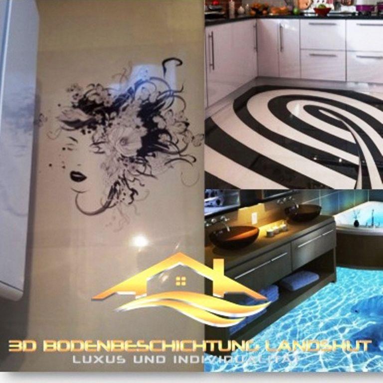 3D Boden im Bad 3D Boden für die Küche Individuelle Gestaltung - küchen luxus design