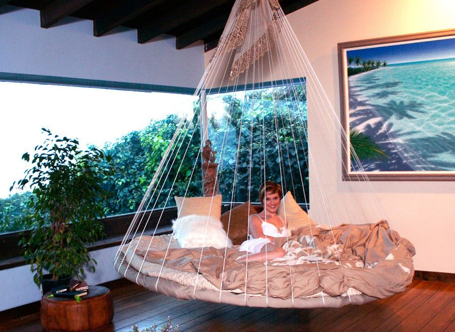 Unique Indoor Floating Bed Hammock This Could Be Interesting Indoor Hammock Bed Floating Bed Outdoor Hanging Bed