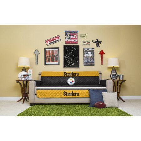 NFL Licensed Furniture Protector, Sofa, Pittsburgh Steelers