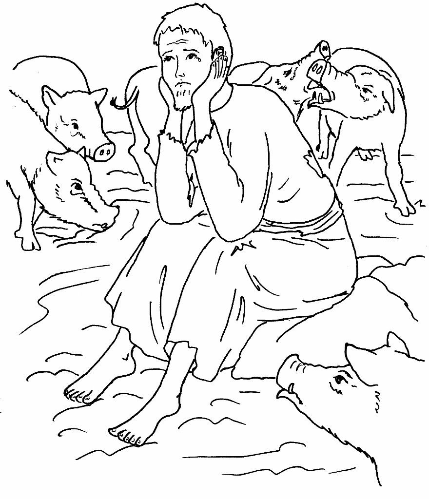 Prodigal Son Coloring Sheets | parable of prodigal son-the lost ...