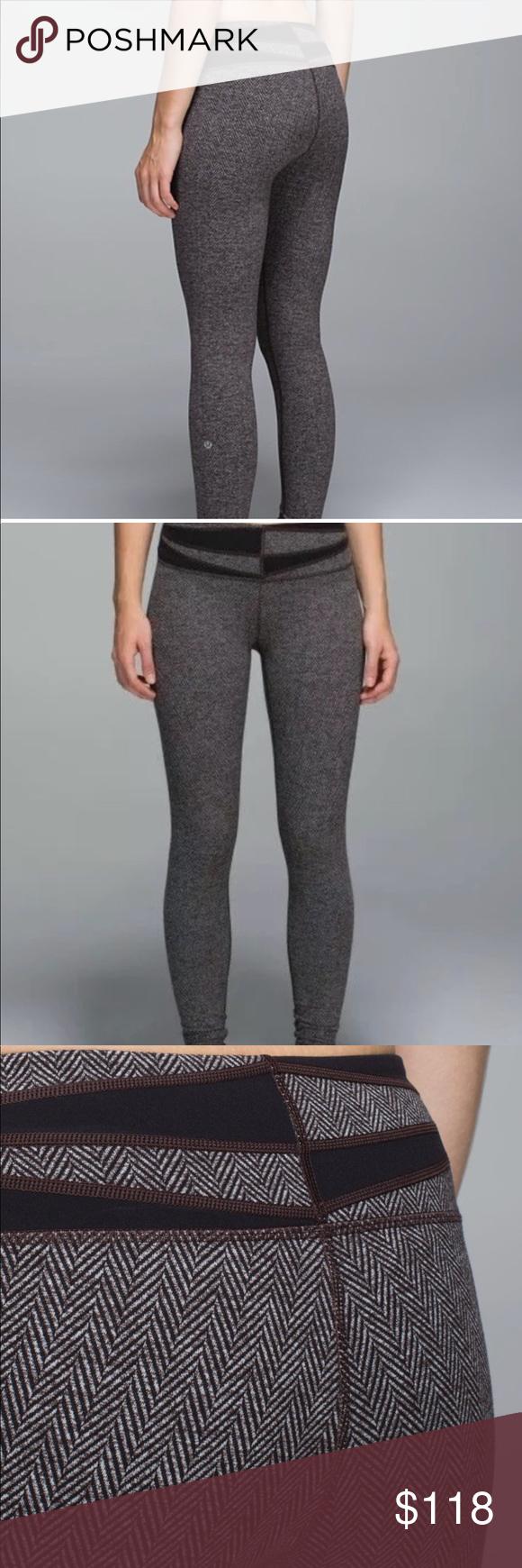 de9e627ce8 Like new brown lululemon herringbone leggings cottony-soft Luon fabric is  engineered for serious stretch