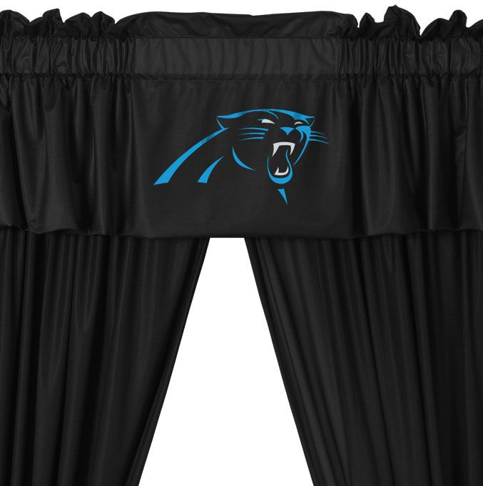 Nfl Curtians | NFL Carolina Panthers   5pc Jersey Drapes Curtains And  Valance Set
