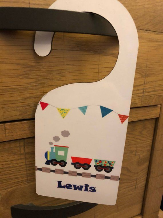 Stocking Fillers Personalised Door Hanger Gifts For Kids