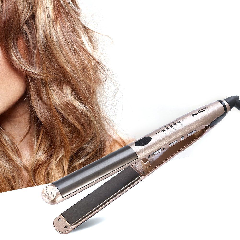 Curling Iron 2 in 1 Hair Curler and Straightener Flat Iron