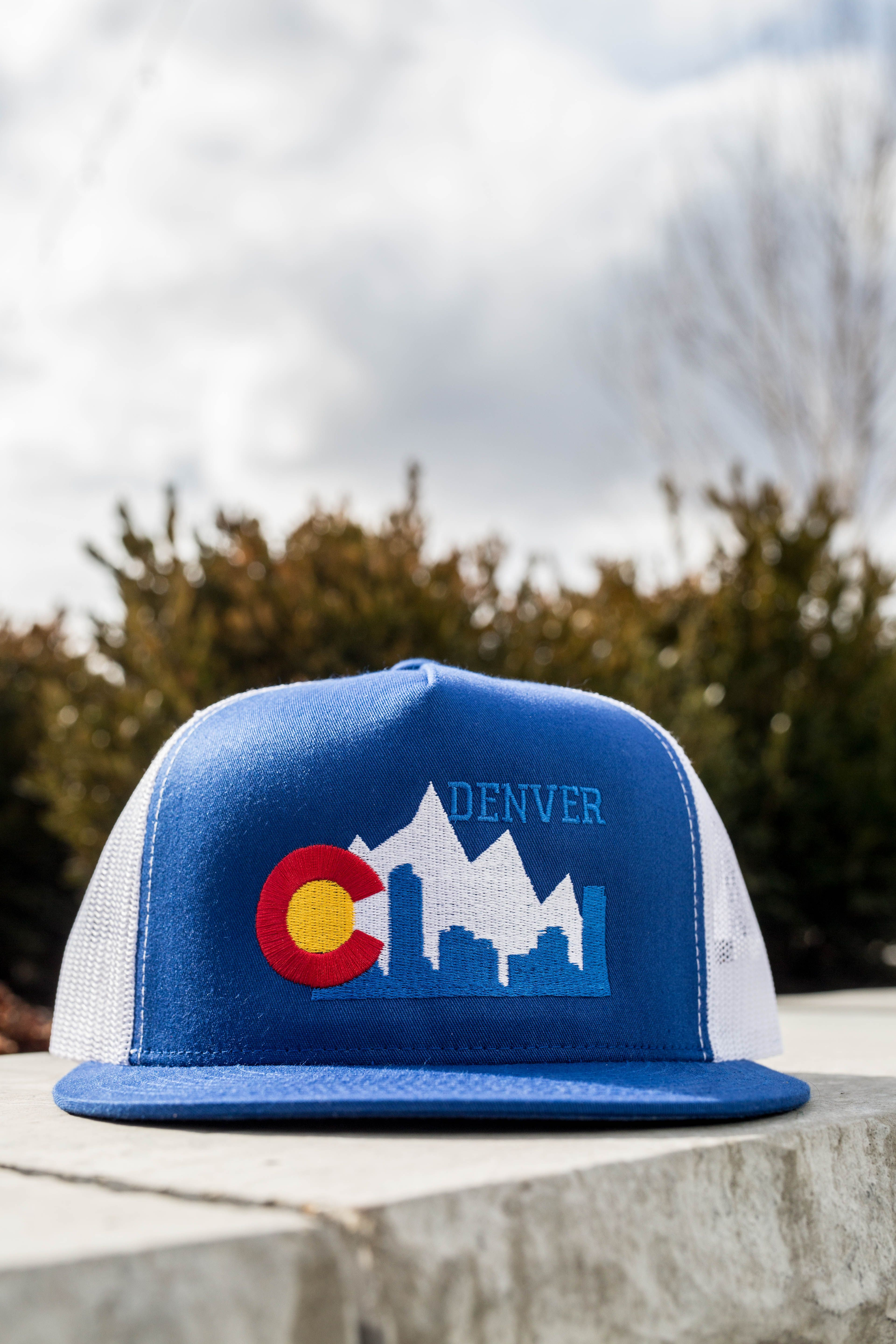 Rep Your Town With A Custom Design From Our City Collection We Love This Denver Custom Trucker Hat That Shows Off The Sky Custom Trucker Hats Custom Hats Hats