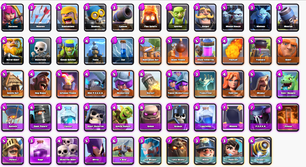 All Clash Royale Troops Cards Pinterest Clash Royale