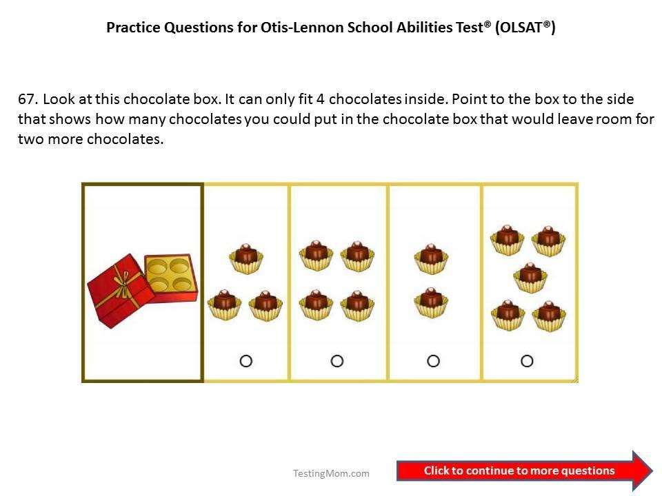 Practice Olsat Questions For 1st Grade To 2nd Gradeotis Lennon