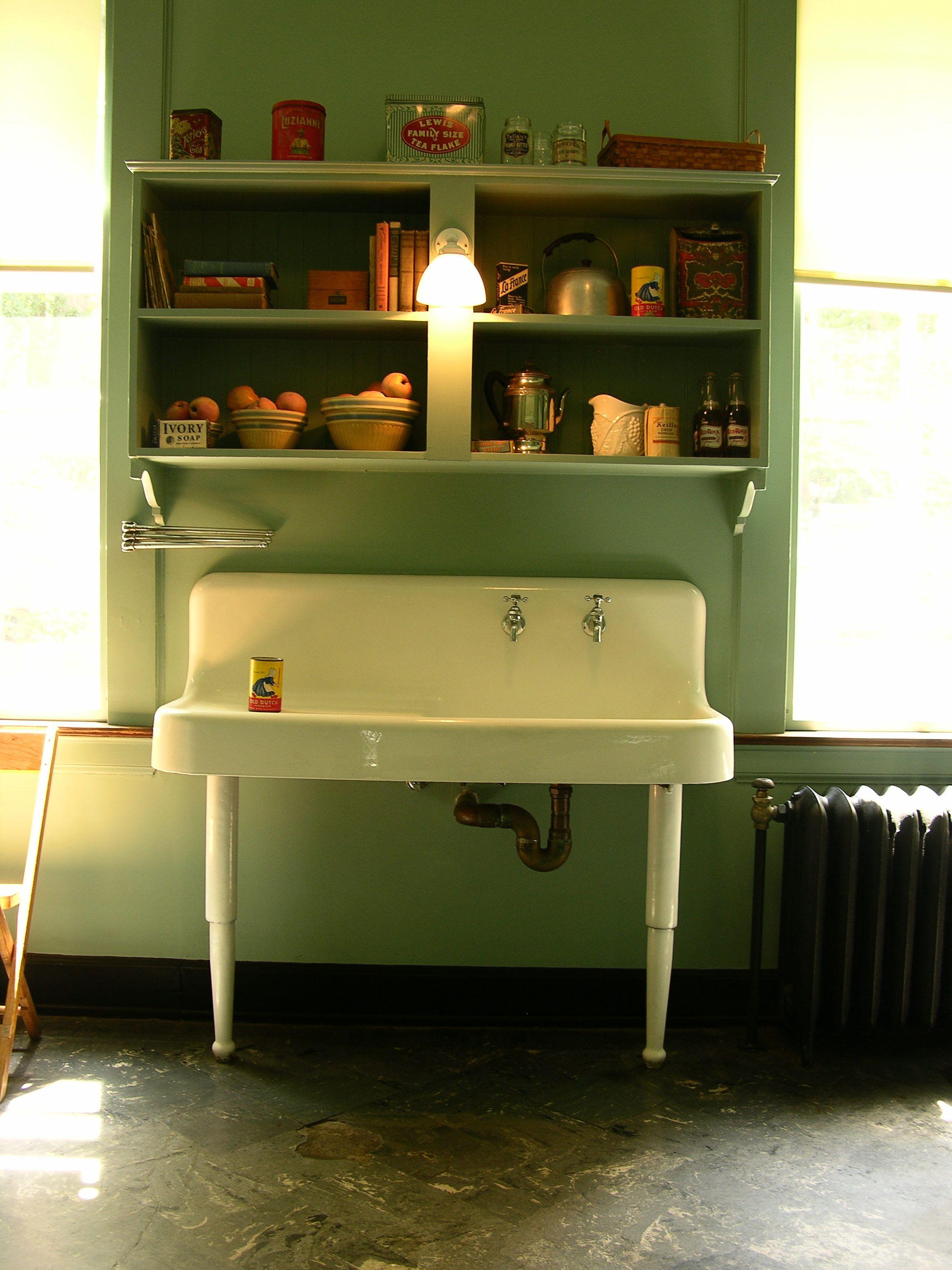 kitchen sink vintage Swan House Atlanta History Center