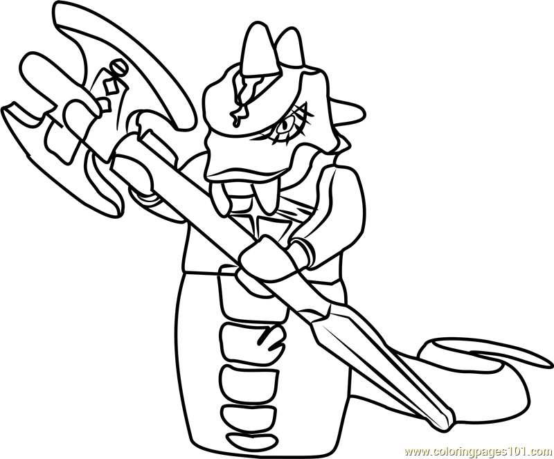 Ninjago Skalidor Coloring Page Ninjago Coloring Pages Snake Coloring Pages Coloring Pages