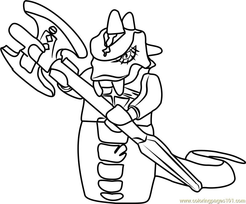 Ninjago Skalidor Coloring Page Ninjago Coloring Pages Snake Coloring Pages Coloring Pages