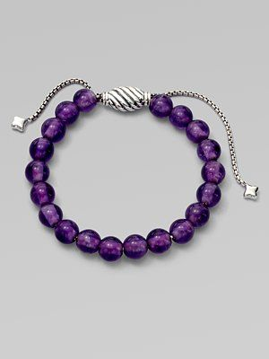 David Yurman Amethyst And Sterling Silver Bracelet