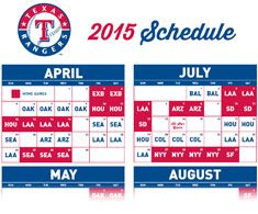 photo regarding Texas Rangers Printable Schedule named Printable Timetable Illustration rangers agenda Program