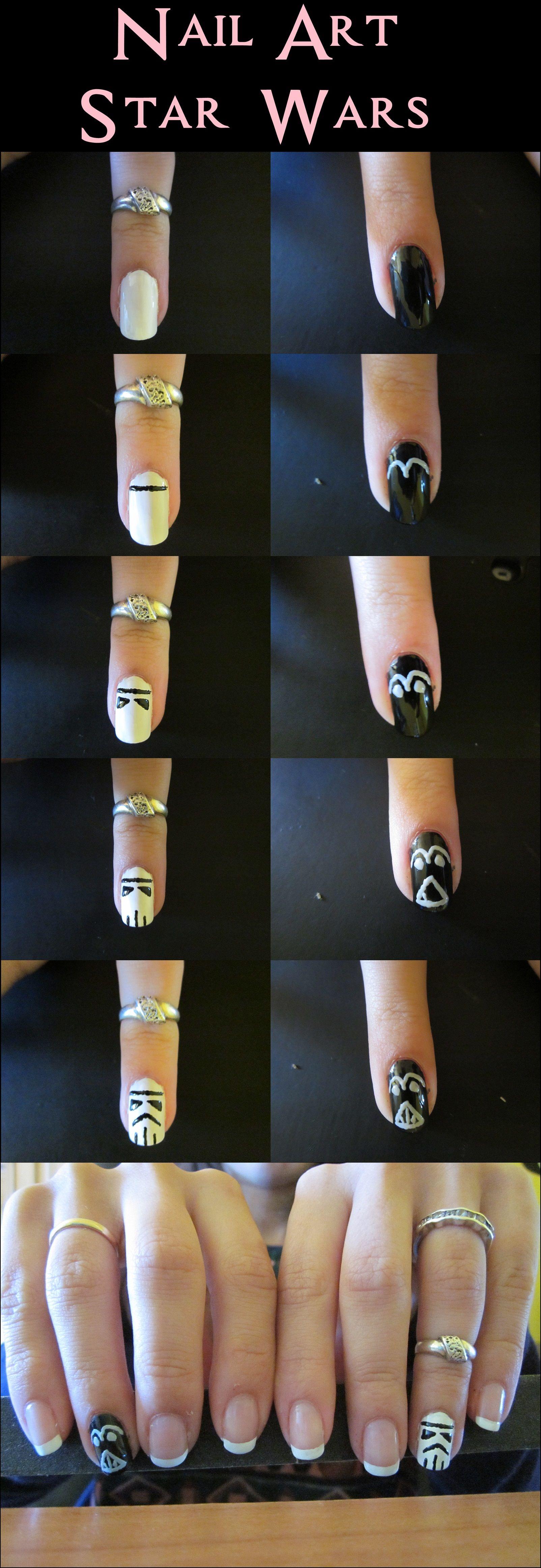 Nail Art - Star Wars | Beauty/ Nails | Pinterest | Diseños de uñas ...