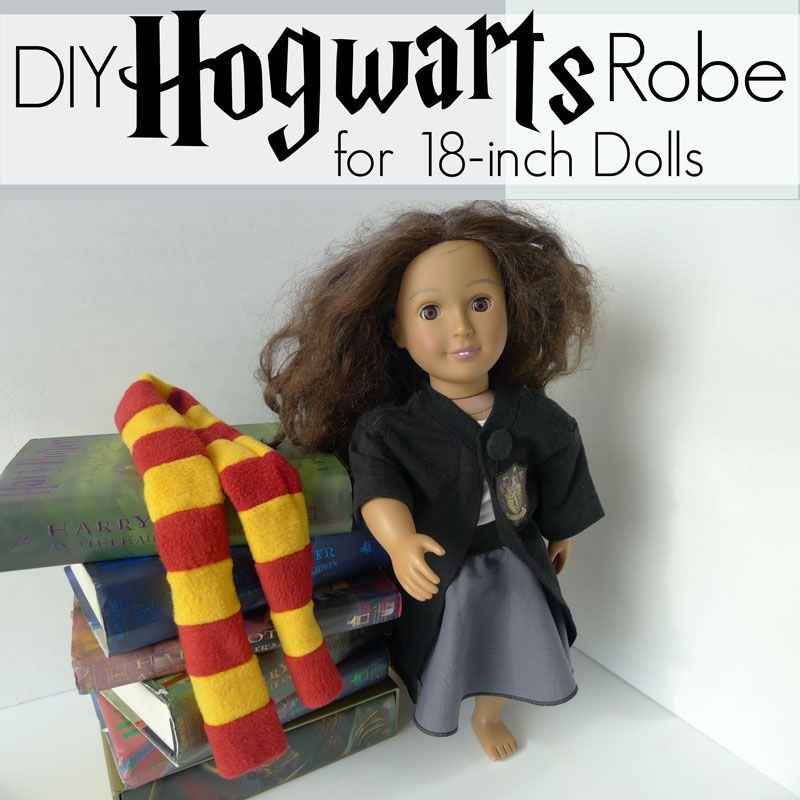 Pieces by Polly: DIY Harry Potter Doll Robe - Hermione American Girl ...
