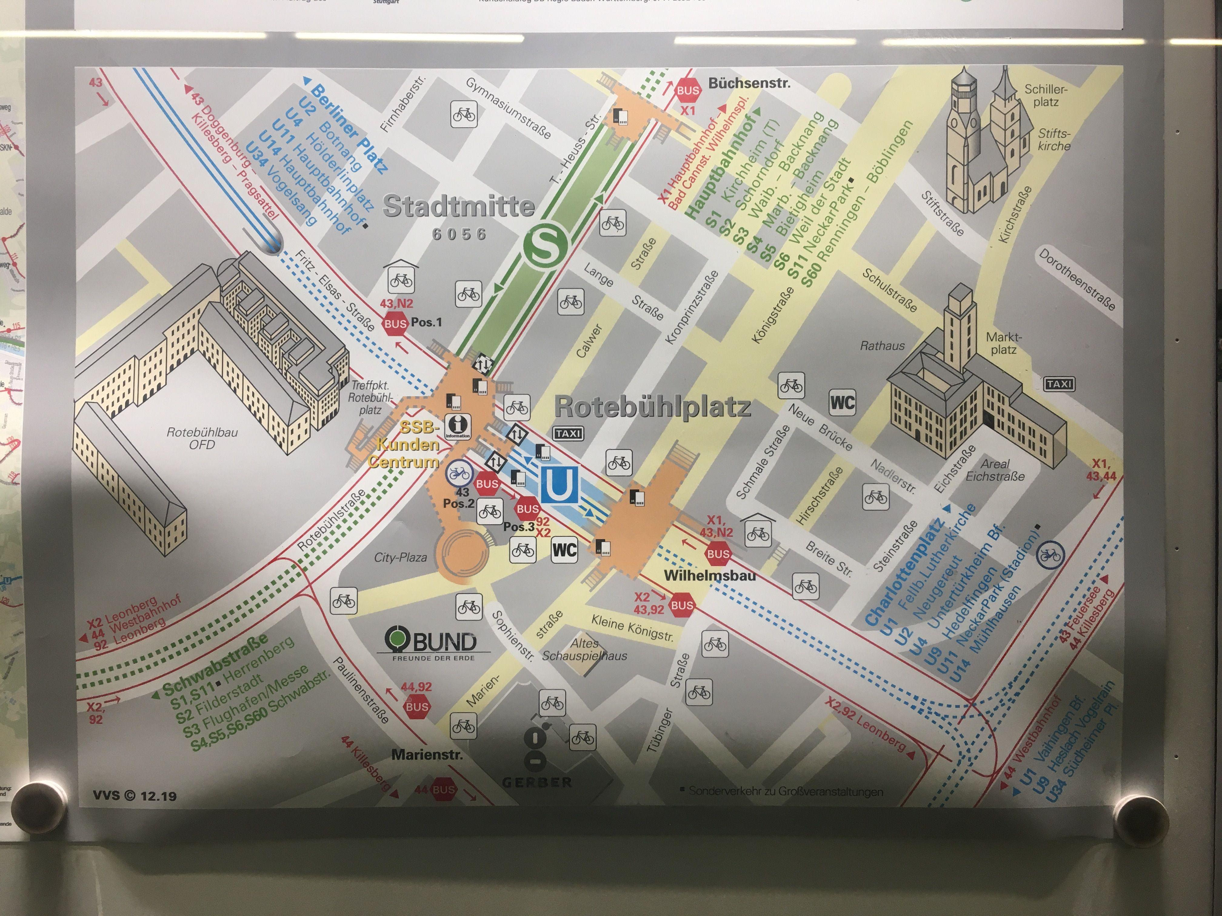 Stuttgart Stadtmitte In 2020 Station Map Stuttgart Monopoly Deal