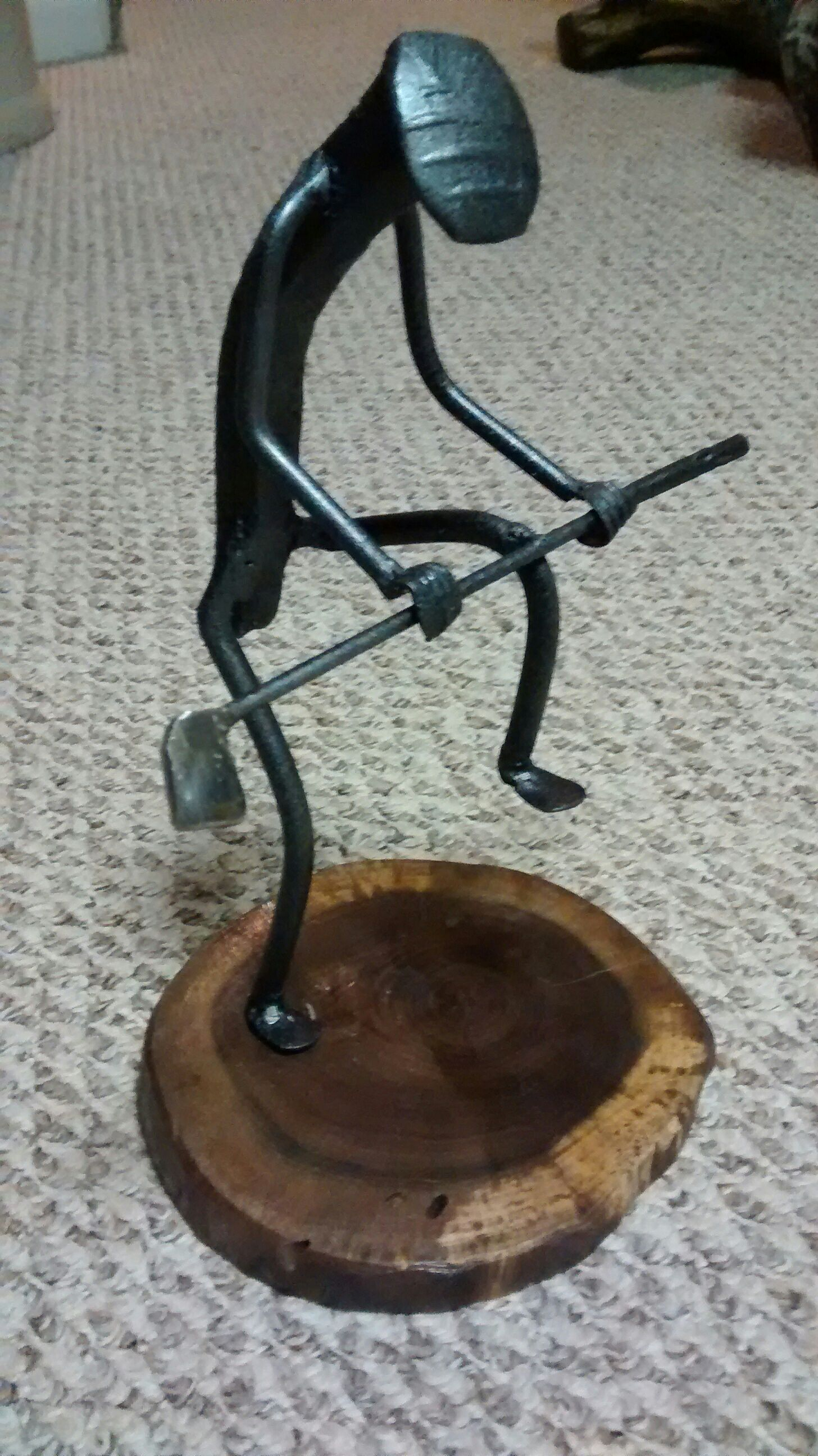 Metal Art Sculpture Railroad Spike Art Scrap Metal Art