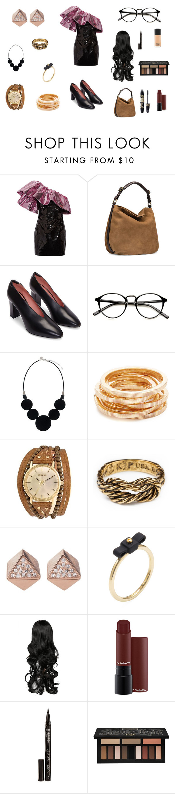 """1952 Prom Outfit"" by marizacampbell on Polyvore featuring Yves Saint Laurent, UGG, Acne Studios, Kenneth Jay Lane, Kahuna, FOSSIL, Marc by Marc Jacobs, Smith & Cult, Max Factor and Kat Von D"