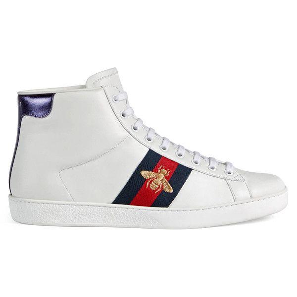 Gucci White & Black Empire Strass Sneakers M8hQZ
