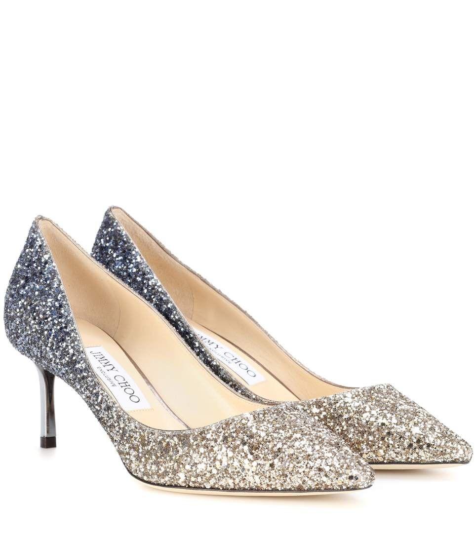 JIMMY CHOO Romy 60 Glitter Pumps. #jimmychoo #shoes #pumps