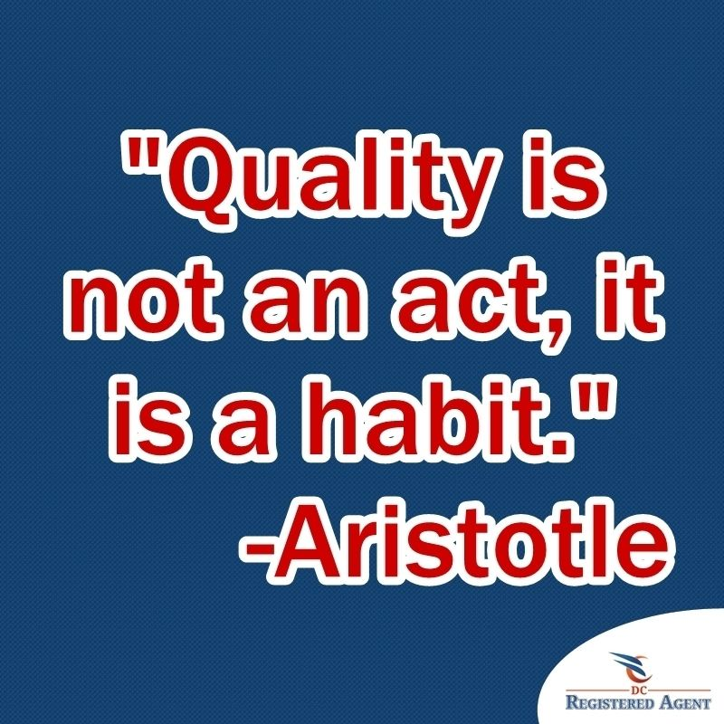 """#WednesdayWisdom """"Quality Is Not An Act, It Is A Habit"""
