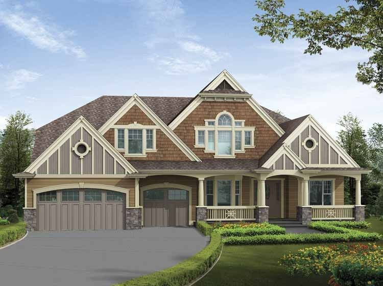 Craftsman House Plan with 6555 Square Feet and 6 Bedrooms from Dream ...