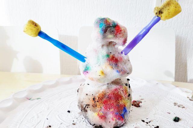 Verven met sneeuw; schilderij & sneeuwpop verven - Mamaliefde.nl