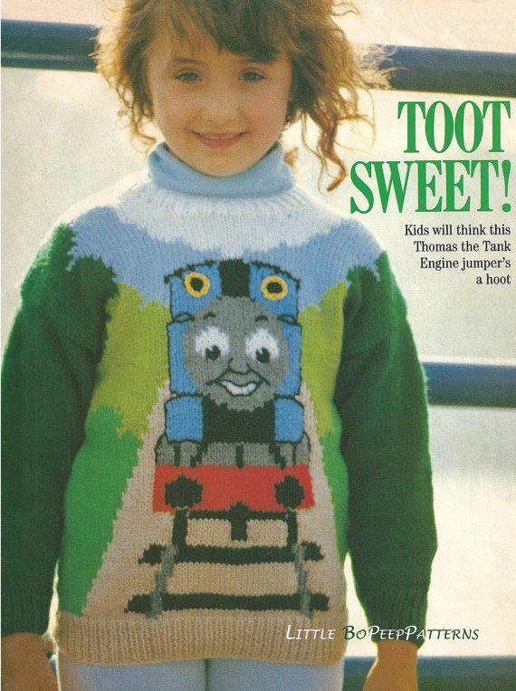 Thomas The Tank Knitting Pattern Childs Jumper Pdf Knitting