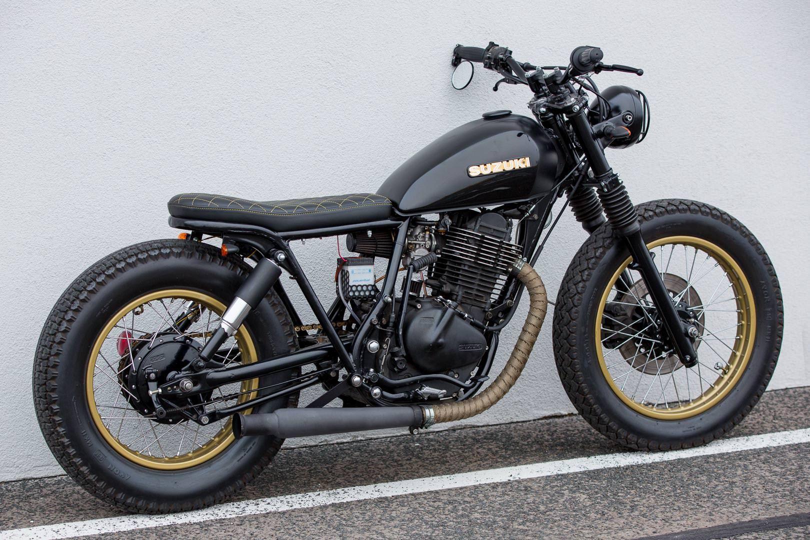 Suzuki Gn 400 Caferacer Bratstyle Bobber Tracker Suzuki Cafe Racer Cafe Racer Honda Cafe Racer Bikes