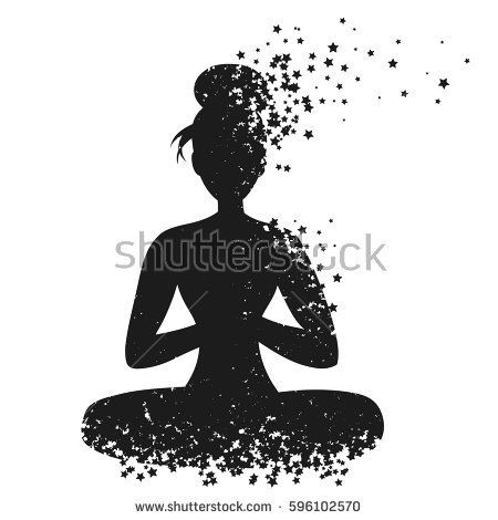 Sport Fitness Poster With Woman Silhouette Of Particles For Print On T Shirt And Bags Yoga Studio Or Fitnes Workout Posters Illustration Vector Illustration