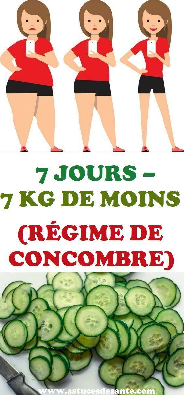 7 JOURS – 7 KG DE MOINS (RÉGIME DE CONCOMBRE) | Conseils