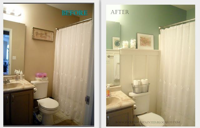 Picked Painted Guest Bathroom Updated Cheap Bathroom Remodel Guest Bathroom Remodel Cheap Bathroom Makeover