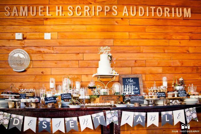 Mini dessert buffet AND a wedding cake??? Um...thank you very much...!