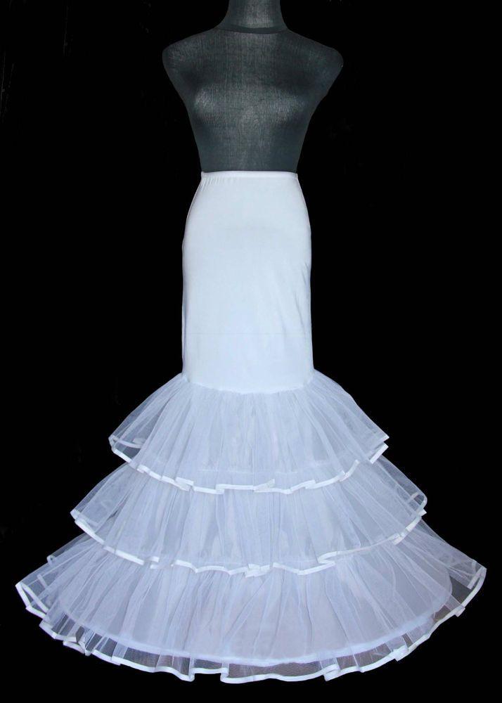 3a594c46e314 Details about Fishtail/Mermaid Petticoat/Underskirt/Crinoline ...