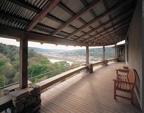 Corregated metal ceiling ideas stone roof ceiling porch for Metal roof porch pictures