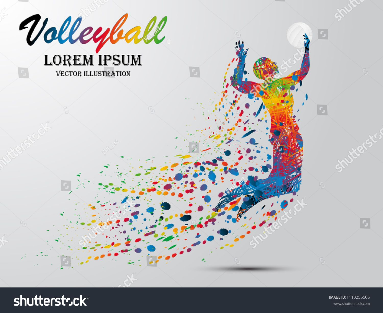 Visual Drawing Volleyball Sport At Fast Of Speed In Game Colorful Beautiful Design Style On White Background Creative Infographic Vector Illustration Drawings