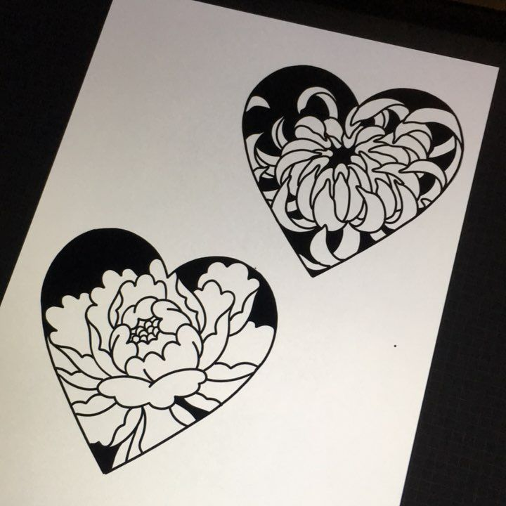 """1,917 Likes, 10 Comments - RAIN CITY MANCHESTER  (@joshrusselltattoo) on Instagram: """"Would like to do some Japanese flowers in hearts colour also if people wanted…"""""""
