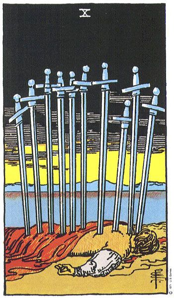 Image result for tarot rider waite swords