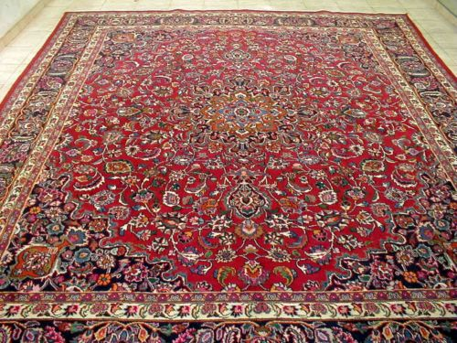 10x12 1940 S Magnificent Fine Hand Knotted Signed Antq Wool Mashadd Persian Rug Ebay Rugs On Carpet Rugs Antique Rugs