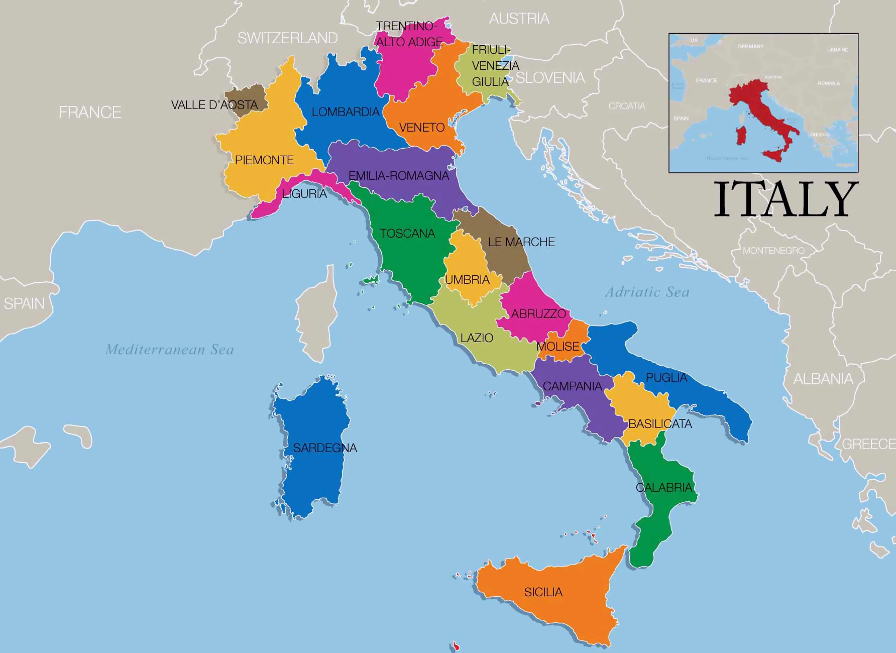 Map of Italy wine regions Wine regions map of Italy Vidianicom