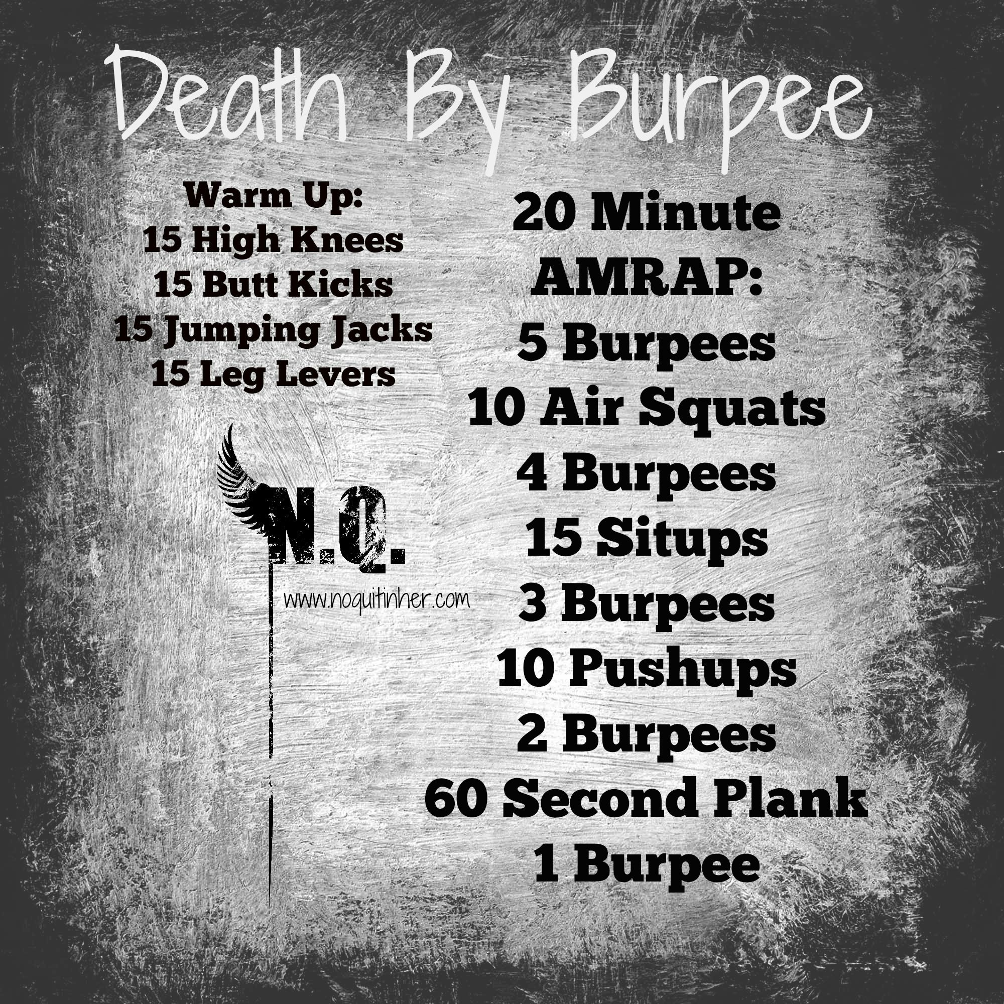 At home/travel Crossfit Style workout for an intermediate to