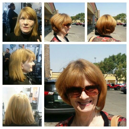 A majorly transformative haircut on a guest who is getting ready for a High School Reunion