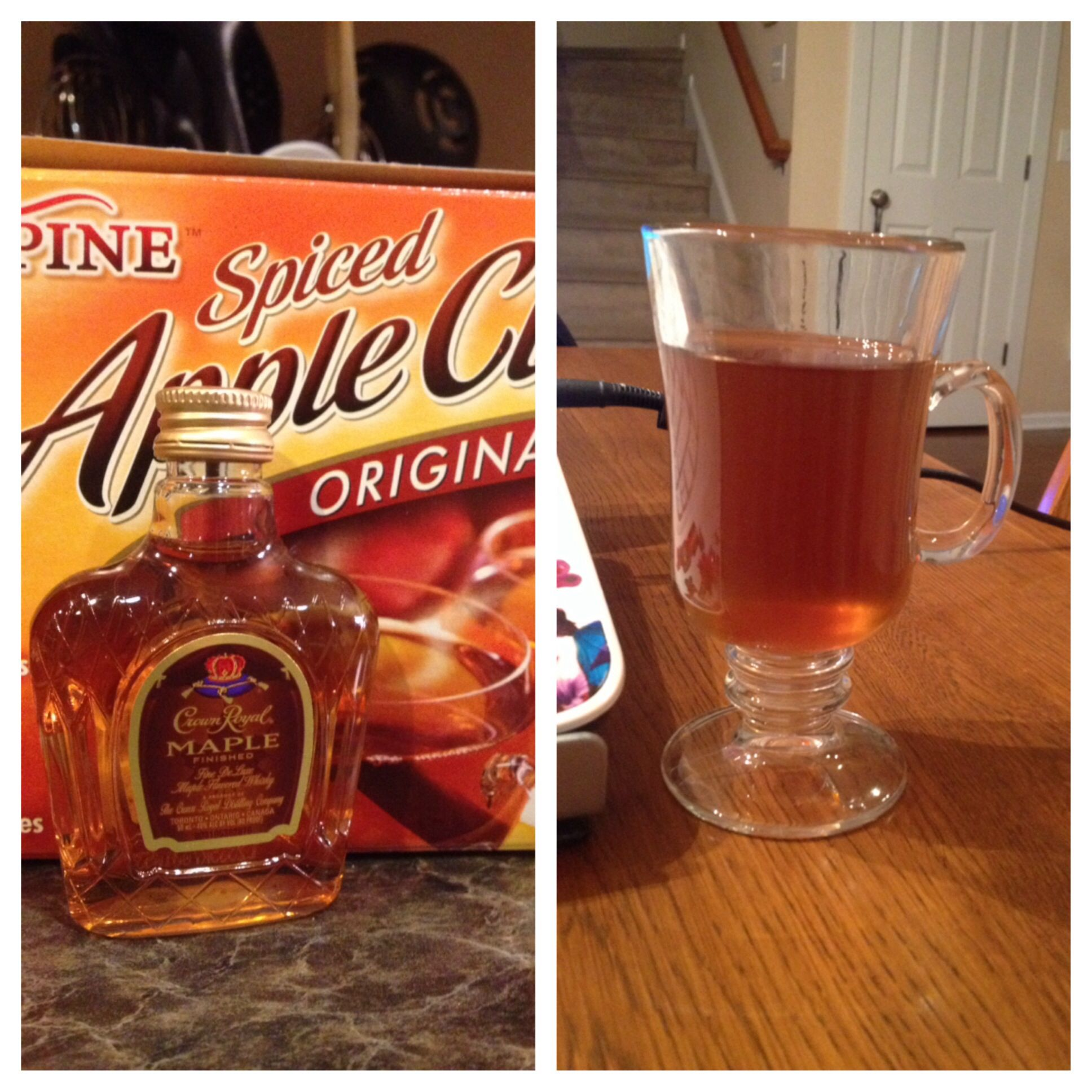 Maple Crown Royal And Apple Cider. A Very Good Flavor