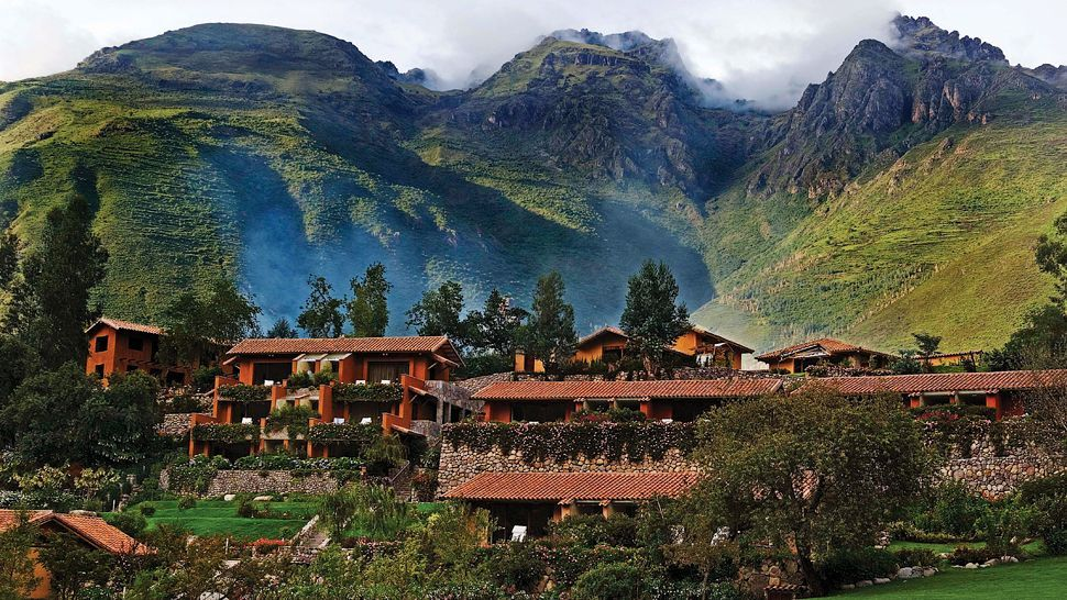 Hotel Rio Sagrado In Urubamba Sacred Valley Peru Is Built With Natural Materials To