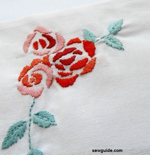 Rose Embroidery - 12 ways to make embroidered roses easily   Learn embroidery, Floral embroidery ...